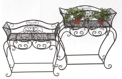blumenst nder 2er set blumenbank 12554 metall blumenregal. Black Bedroom Furniture Sets. Home Design Ideas