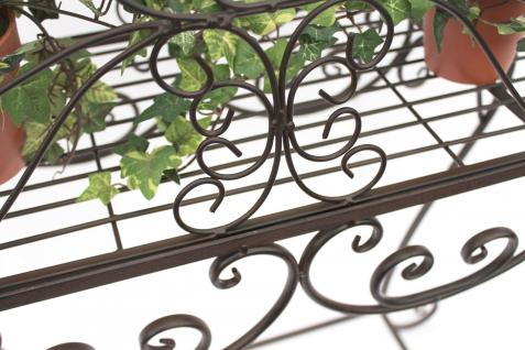 Blumenständer 68cm Blumenbank 12554 S Metall Blumenregal Beistelltisch Tisch - Vorschau 3