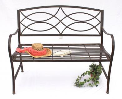 bank gartenbank 111185 aus metall sitzbank baumbank 2 sitzer 109cm parkbank kaufen bei dandibo. Black Bedroom Furniture Sets. Home Design Ideas