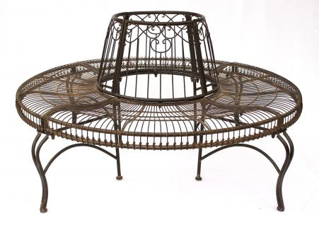 rundbank aus metall bank jc112404 baumbank sitzbank gartenbank d 150cm h 75cm kaufen bei. Black Bedroom Furniture Sets. Home Design Ideas