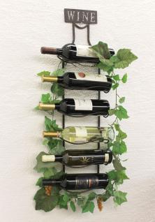 Weinregal Wine 83cm aus Metall 95208 Flaschenständer Wandregal Flaschenhalter - Vorschau 1