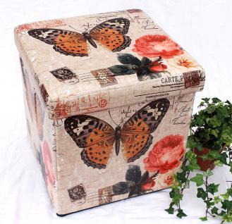 Hocker aus Kunstleder Sitzhocker 2218 Aufbewahrungsbox 40cm Sitzwürfel Truhe Korb