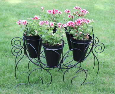 Cinderella Kutsche Blumenständer 82cm Blumenhalter Blumenregal Blumentreppe