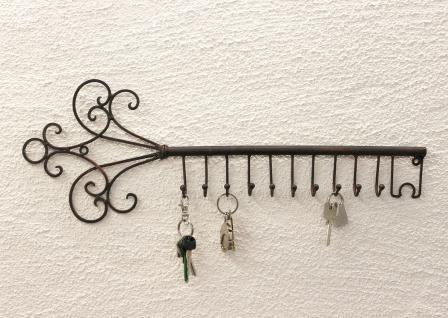 Schlüsselhänger Hakenleiste 101852 Schlüsselleiste 56cm Wandhaken Schlüsselbrett - Vorschau 3
