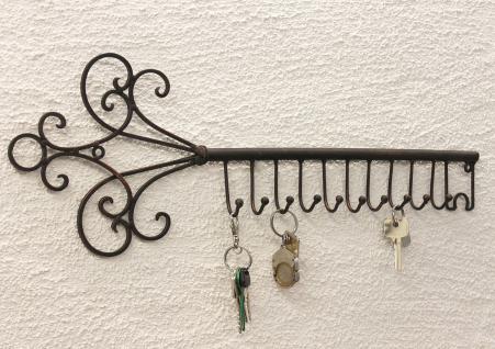 Schlüsselhänger Hakenleiste 101852 Schlüsselleiste 56cm Wandhaken Schlüsselbrett - Vorschau 4