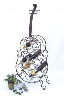 Weinregal Cello aus Metall 100136 Flaschenhalter 134cm Flaschenregal Wein Bar - Vorschau 5