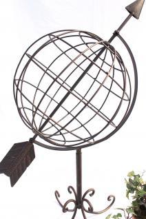 Globus aus Metall 101806 Sonnenuhr aus Schmiedeeisen 72cm Gartenuhr Gartendeko - Vorschau 2