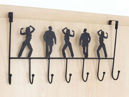 Türgarderobe 131017 Schwarz Türhaken 42cm Garderobe Kleiderhaken Haken Hakenleiste