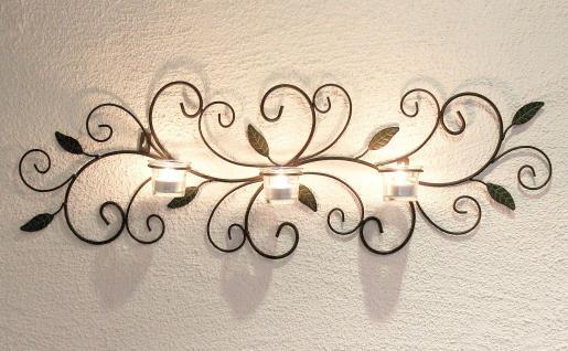 wandteelichthalter 131003 teelichthalter aus metall 75cm wandleuchter kerzenhalter kaufen bei. Black Bedroom Furniture Sets. Home Design Ideas