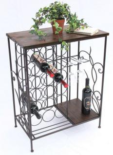 Weinregal 83cm HX12977 Flaschenständer Metall Holz Flaschenhalter Regal - Vorschau 4