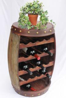 Weinregal Weinfass Fass aus Holz H-70cm Nr.1546 Flaschenständer Regal Antikbraun