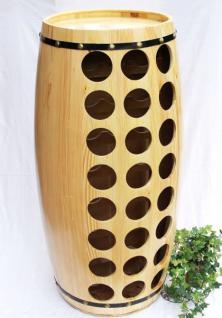 Weinregal Weinfass für 48 Fl. aus Holz H-99cm Nr.1502 Flaschenständer Regal Fass Bar - Vorschau 3