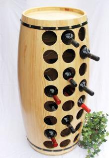 Weinregal Weinfass für 48 Fl. aus Holz H-99cm Nr.1502 Flaschenständer Regal Fass Bar - Vorschau 1