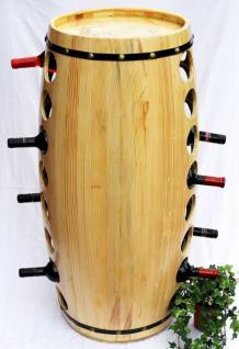 Weinregal Weinfass für 48 Fl. aus Holz H-99cm Nr.1502 Flaschenständer Regal Fass Bar - Vorschau 4