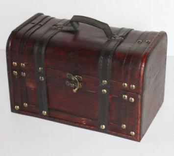 Truhe aus Holz Holztruhe Box T32 L 26cm Koffer Kästchen Schatulle Kiste
