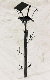 Rankhilfe mit Schneehöhenmesser und Futterhäuschen 160cm Kletterhilfe Vogelhaus - Vorschau 1