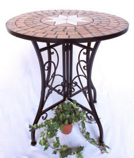 Sitzgruppe Merano 12001-2 Gartentisch + 2 Stk. Gartenstuhl aus Metall Mosaik Tisch + 2x Stuhl - Vorschau 3