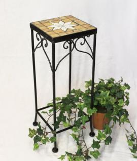 Blumenhocker Merano Mosaik 12012 Blumenständer 46 Hocker Eckig Beistelltisch