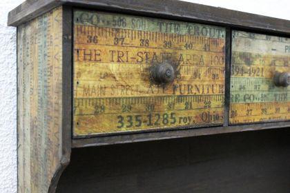 Wandschrank 59cm Loft 12050 Schrank Wandregal Vintage Shabby Hakenleiste Haken - Vorschau 2