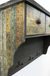 Wandschrank 59cm Loft 12050 Schrank Wandregal Vintage Shabby Hakenleiste Haken - Vorschau 3
