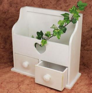 Minikommode Kommode mit 2 Schubladen 12236 Regal 28cm Schmuckkasten Shabby Regal - Vorschau 2
