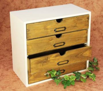 Kommode Mit Regal : minikommode kommode mit 4 schubladen 12017 regal 32cm schmuckkasten shabby truhe kaufen bei ~ Watch28wear.com Haus und Dekorationen