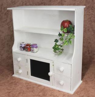 k chenschrank 12238 regal mit notiztafel 55cm schrank shabby buffet k chenregal kaufen bei. Black Bedroom Furniture Sets. Home Design Ideas
