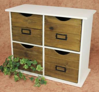 minikommode kommode mit 4 schubladen 12018 regal 46cm schrank shabby truhe kaufen bei dandibo. Black Bedroom Furniture Sets. Home Design Ideas