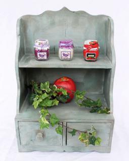Minikommode Kommode mit 2 Schubladen 12074 Regal 43cm Schrank Shabby Truhe - Vorschau 2