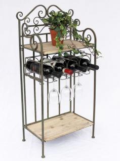 """Weinregal """"Malaga"""" 90cm 12065 Flaschenständer Metall Holz Flaschenhalter Regal"""