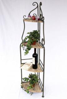 eckregal regal malega 12061 aus metall und holz 145cm. Black Bedroom Furniture Sets. Home Design Ideas