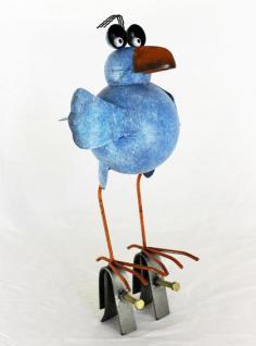 Möwe aus Metall 32cm Vogel 2424 Blau Dachschmuck für die Dachrinne Dachfigur - Vorschau 2