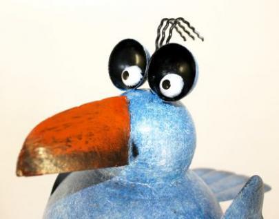 Möwe aus Metall 32cm Vogel 2424 Blau Dachschmuck für die Dachrinne Dachfigur - Vorschau 4