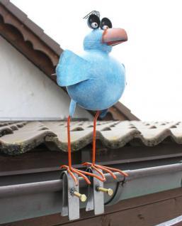 Möwe aus Metall 32cm Vogel 2424 Blau Dachschmuck für die Dachrinne Dachfigur - Vorschau 5