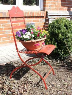 Stuhl Passion 3608 Gartenstuhl aus Metall Rot Blumenbank Blumenhocker - Vorschau 4
