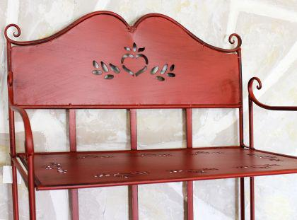 regal passion aus metall 175cm rot 18143 b cherregal badregal k chenregal kaufen bei dandibo. Black Bedroom Furniture Sets. Home Design Ideas