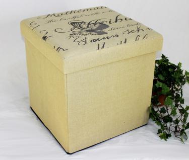 Hocker Faltbarer Sitzhocker 2148 Aufbewahrungsbox 40cm Sitzwürfel Truhe Korb - Vorschau 1