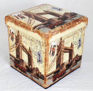 Hocker aus Kunstleder Sitzhocker 2216 Aufbewahrungsbox 40cm Sitzwürfel Truhe Korb - Vorschau 2