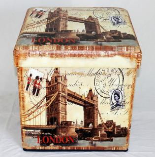 Hocker aus Kunstleder Sitzhocker 2216 Aufbewahrungsbox 40cm Sitzwürfel Truhe Korb - Vorschau 5