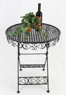 Tisch Gartentisch Sevilla HX12620 Bistrotisch D-65cm Beistelltisch Klapptisch - Vorschau 1