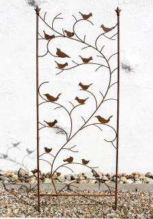 Rankhilfe mit Vögel 120705 Rankgitter aus Metall H-150cm B-50cm Kletterhilfe