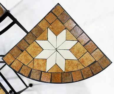 Blumenhocker Merano Mosaik 3er Set 12013 Blumenständer 42, 52 und 62cm Eckregal Hocker - Vorschau 3