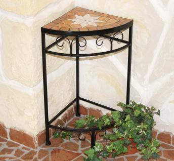 Blumenhocker Merano Mosaik 12013 Blumenständer 52cm Hocker Eckregal Tisch - Vorschau 1