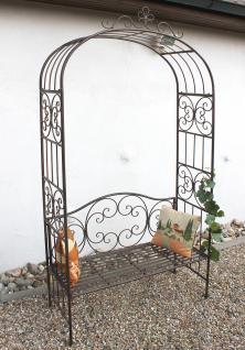 rosenbogen mit bank 120852 aus metall 250cm gartenbank spalier pergola kletterhilfe kaufen bei. Black Bedroom Furniture Sets. Home Design Ideas
