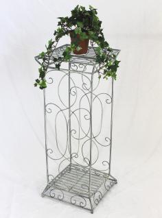 Blumensäule Romance 20304 eckig 77cm Blumenhocker a. Metall Blumenständer Hocker