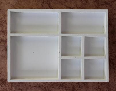 sortierkasten setzkasten 12291 wei 32cm aus holz sammlervitrine sortierschublade kaufen bei. Black Bedroom Furniture Sets. Home Design Ideas