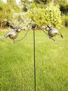 2 Raben Windspiel 8926 Rabe Wippe Metall Breite 65cm Karussell Gartenstecker - Vorschau 3