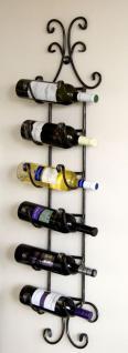 Weinregal zum aufhängen aus Schmiedeeisen Flaschenhalter für 6 Flaschen