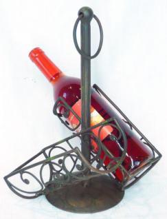 flaschenhalter f r 2 flaschen aus metall 36cm. Black Bedroom Furniture Sets. Home Design Ideas