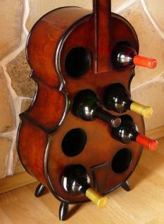 Weinregal Flaschenregal Flaschenständer Cello aus Holz - Vorschau 5